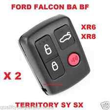 2 x Ford BA BF Falcon Sedan/Wagon Central Locking Keyless Car Remote 4 Button
