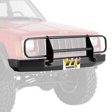 Warrior Front Rock Crawler Bumper Brush Guard & D-Rings 84-01 Jeep Cherokee XJ