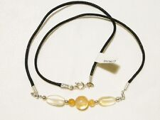 "CITRINE CHOKER NECKLACE 45CM SILVER PLATED ""NEW"" AUZ MADE CH17"