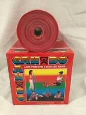 CanDo Low Powder Exercise Band - 50 yard roll - Red - light In Box