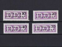 GERMANY 1956 CENTRAL COURIER SERVICE STAMP SET MINT NEVER HINGED CAT £230  R3770