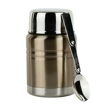 Insulated Food Thermos & Meal Container with Collapsible Spoon Food Jar Gold