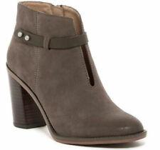 Franco Sarto Elvis Grey Leather Bootie boots Size 9.5 M