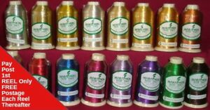 Metallic Embroidery Machine Thread Marathon rayon Choice of Colours 1000m Reels