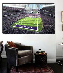 Minnesota Vikings Stadium Canvas Ready to Hang Print 36 x 24 US Bank Stadium