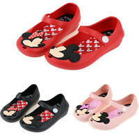 Toddler Kids Girls Cartoon Mickey Minnie Jelly Shoes Slip On Summer Flat Sandals