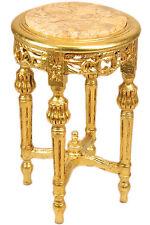 GUERIDON STYLE LOUIS XVI EN BOIS HETRE DORE TABLE D'APPOINT NEOCLASSIQUE