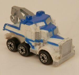 Micro Machines Tow Truck RARE Blue&White Wrecker
