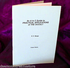 A-Z GUIDE TO PRACTICAL APPLICATIONS OF THE OCCULT. Finbarr. Magic Magick. Magic