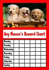 Red Puppies Star Sticker Reward Chart