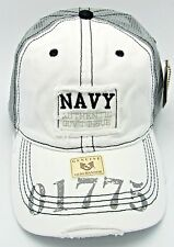 United States U.S. NAVY Snapback Cap Hat US Military Distressed Trucker Hats USA