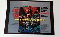 "JAMES BOND - 007 The Spy Who Loved Me Movie 6.5""X5"" Postcard Boxtree Roger Moore"
