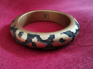 Louis vuitton - Bracelet Bangle Wood - Monogram Leopard - Brown/Golden