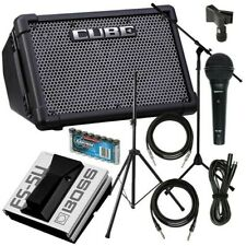 More details for roland cube street ex (black) battery-powered stereo amplifier