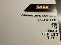 CASE Skid Steer 435, 445, 445CT, Series 3, Tier3 Operator's Manual