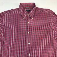 Nautica Button Up Shirt Men's XL Short Sleeve Multi-Plaid Casual 100% Cotton