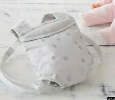 """Pottery Barn Kids Baby doll Gray Stars Baby Doll Carrier for 12-15"""" doll"""