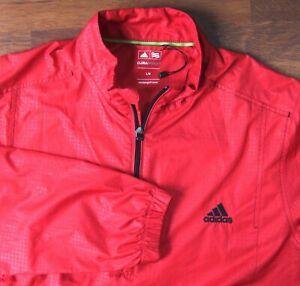 ADIDAS Red Climaproof Golf Jacket Large