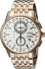 Citizen World Chronograph A-T Eco-Drive White Dial Men's Watches AT8113-55A