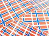 Norway autocollantes Drapeau étiquettes auto-adhésif drapeau Stickers