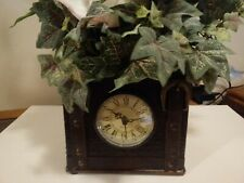 Home Interiors Trenton Decrotive Chest Box w/ Quartz Clock Flower Arrangement