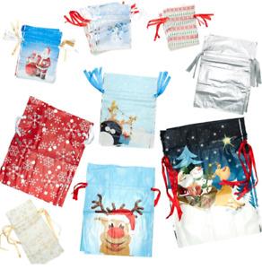 Giftmate 32 Piece Christmas Drawstring Gift Bag and Gift Card Set - new