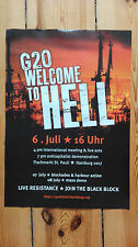 """G20 WELCOME TO HELL""Demo Poster 06.7.17 Hamburg(Sparversand/gefaltet)economical"