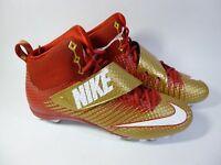Men's Nike Lunarbeast Strike Pro TD 3/4 Mid Gold Red (Sz 14) 847554-728