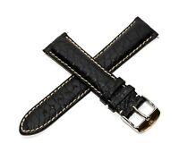 Rotary 21MM Genuine Alligator Leather Watch Band BLACK TechnoMarine Buckle NEW