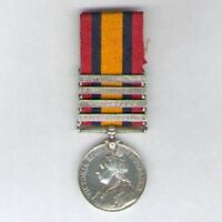 Queen's South Africa Medal with 4 clasps to Private W. Tuckfield, 3rd Hussars