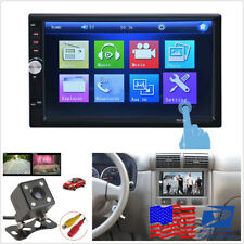 "7"" 2-Din Touch Screen Car MP5 Video Player Stereo USB FM Rearview HD Camera Kits"