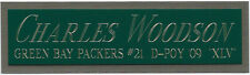 CHARLES WOODSON NAMEPLATE AUTOGRAPHED SIGNED FOOTBALL-HELMET-JERSEY-PHOTO CASE