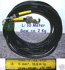 16mm² 10m ERDKABEL GROUND CABLE D&S Massekabel Erdung Kupfer Leitung Kupferkabel