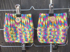 Rainbow Boot Cuffs - Crochet Boot Cuffs - Boot Toppers - Leg Warmers - Fashion