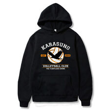 Haikyuu!! Karasuno High School Cosplay Hoodie Men Pullover Jacket Sweatshirt Top