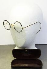 Antike Brille im originalen Metall Etui ~ 1900-20
