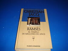 Libro Ramsés El templo de millones de años - Christian Jacq