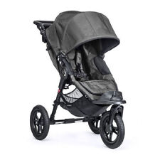 Poussette de promenade gris avec repose-pieds réglable pour bébé