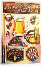 Happy Hour Irish Pub Beer Mug Darts Pool Billiards Bar RC 3D Stickers