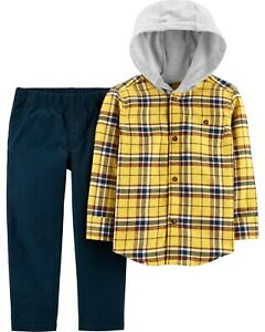 Carter's  Toddler Boys' 2 PC Flannel Hooded Top & Pants Set  Orig.$32.00  2T-5T