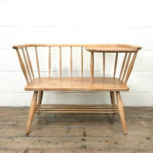 Mid Century Hall Bench or Telephone Table   (M-2584) - FREE DELIVERY*