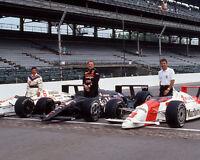 Indianapolis 500 MARIO ANDRETTI, RICK MEARS & AJ FOYT Glossy  8x10 Photo Print