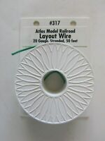 Atlas #317 - Green Color Coded  20 Gauge Copper Stranded Layout Wire