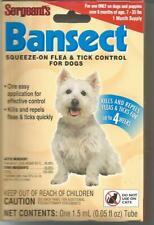 SERGEANTS BANSECT FLEA & TICK CONTROL Treatment Medicine Squeeze On gel Dog
