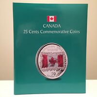 1967-2017 25 cent Commemorative Canada Quarter Set - 92 coins+Album+Mag.Glass