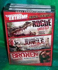 NEW OOP ROGUE WELCOME TO THE JUNGLE BROKEN UNRATED HORROR TRIPLE COMBO DVD SET