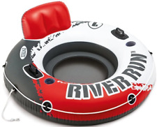 """NEW Intex River Run 1 Person Lounge Inflatable Floating Water Tube 53"""" Red"""