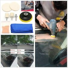 "Universal Car Windscreen Glass Polishing Kit Windows Scratch Remover 70ml+3"" Pad"