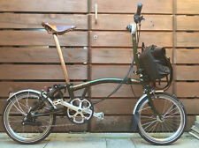 BROMPTON M6L LIMITED BARBOUR EDITION FOLDING BIKE BICYCLE - WORLDWIDE POSTAGE
