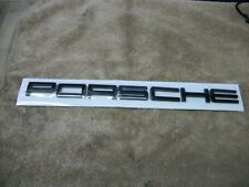PORSCHE EMBLEM LETTERS IN BLACK- 911 991 996 997 Carrera Turbo GT3 GTS Targa